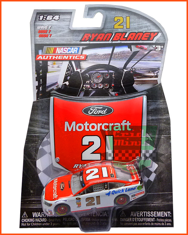 Nascar Ford Fusion 2016 Ryan Blaney #6 MOTORCRAFT- escala 1/64