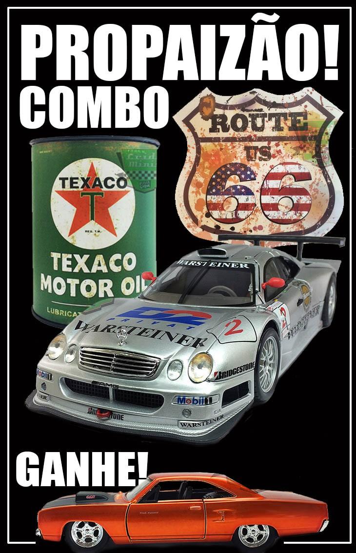 PROPAIZÃO COMBO - Mercedes-Benz CLK-GTR 1998 1/18 + Lata + Placa + GANHE Plymouth 1/32