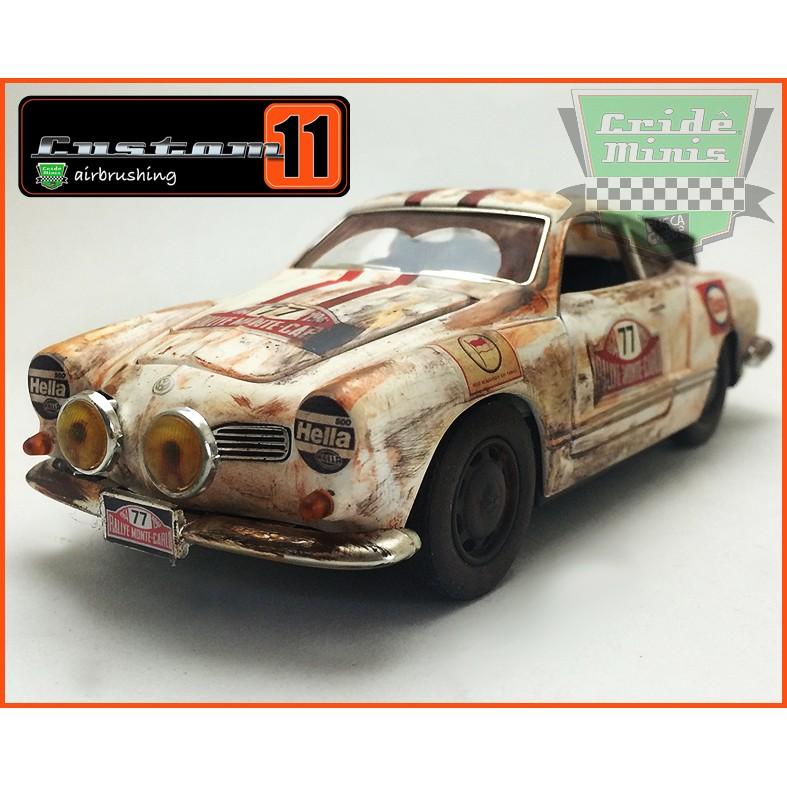 VW Karmann Ghia 1967 Rally Monte Carlo - 10 dias de produção escala 1/28
