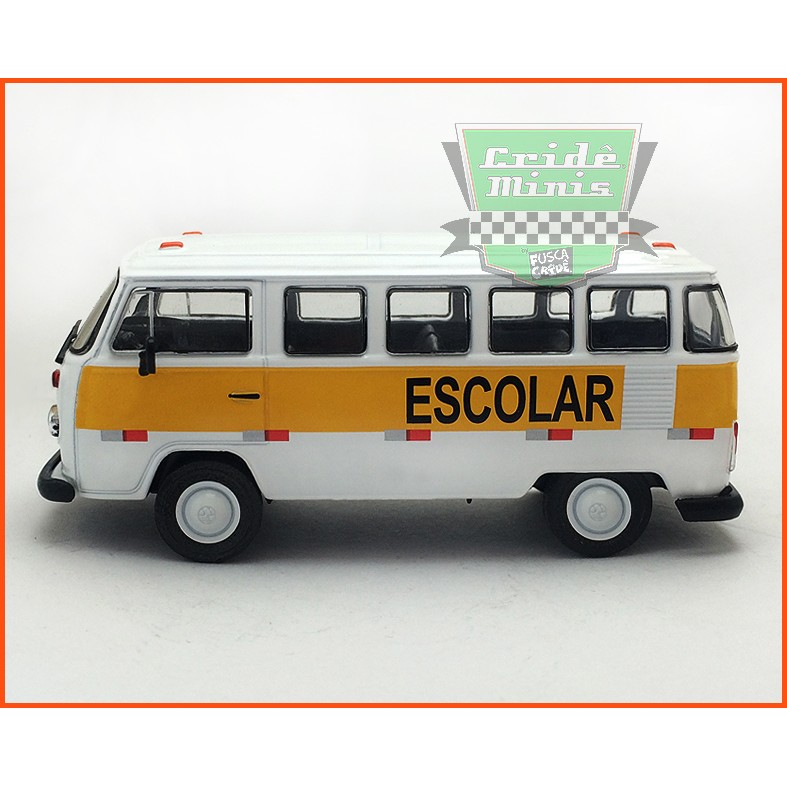 VW Kombi Escolar - Carros Nacionais - escala 1/43