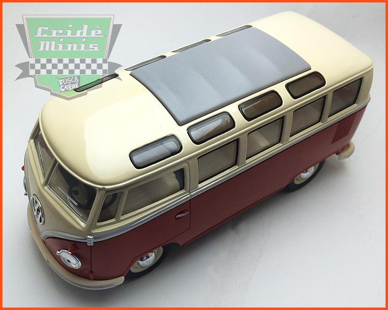 VW Kombi Samba 1962 - vermelha - escala 1/24