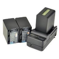 kit com 2 Baterias Np-970 Para Iluminador De Led- Cn160 Cn126 + Carregador