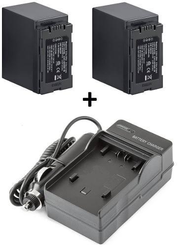 Kit 2 Baterias Cga-d54s + 1 Carregador P/ Panasonic Ag-ac90