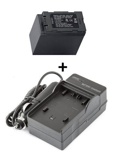 Kit Bateria + Carregador Cgr-d54 D54 Panasonic Ag-dvx100b
