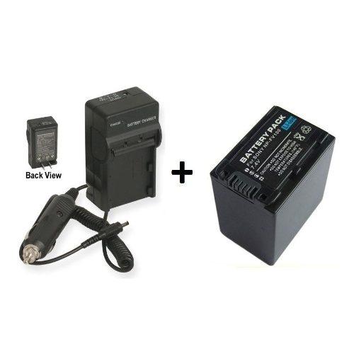 Kit Bateria Np-fv100 + Carregador Para Sony Dcr-sr68 Hdr-xr350v