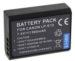 Bateria Lp-e10 Para Canon Eos 1100d 1200d Rebel T3 T5 Kiss X50