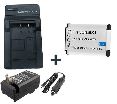 Kit Bateria Np-bx1 + Carregador Bx1 Para Câmera Digital Sony Hx400