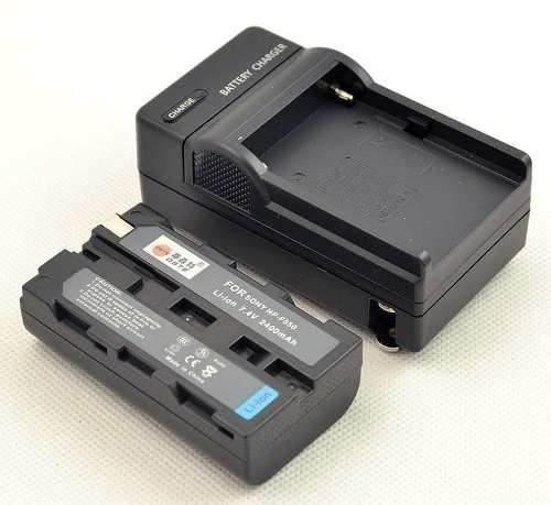 Kit Bateria Np-f570 Para Sony + Carregador Para Iluminador Led