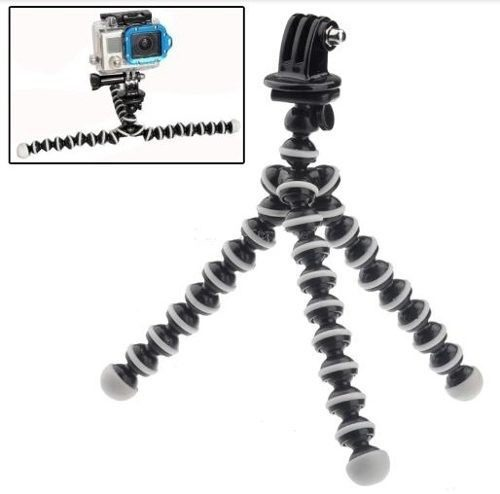 Kit Adaptador Gopro + Tripé Camera Para Go Pro 1 2 3 4 Hero