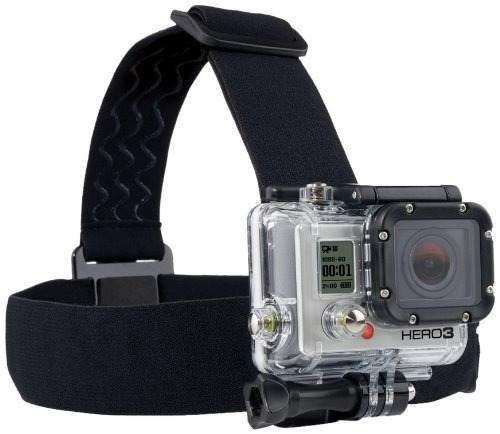 Suporte Cabeça Helmet Head Strap Mount Go Pro Hero3+ Gopro