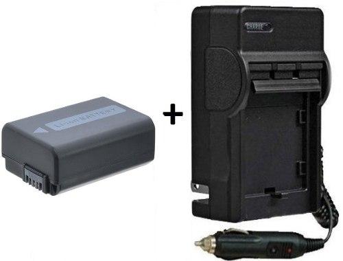 Kit Bateria + Carregador Np-fw50 Para Sony Alpha 3000 Alpha 3500