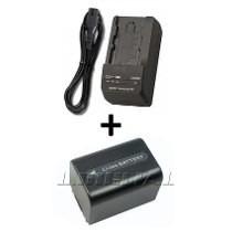 Kit Bateria Fh50 + Carregador Np-fh50 Para Câmera Sony Dsc-hx1