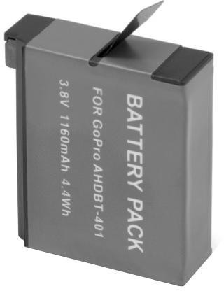 Bateria Recarregável Para Go Pro Ahdbt-401 Hero 4 1160mah