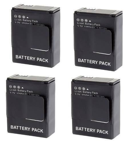 Kit Com 4 Baterias Ahdbt-302 Para Gopro Hd Hero 3 Hero 3+ Go Pro