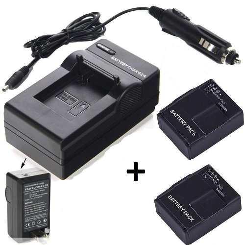 Kit 2 Baterias Ahdbt-302 + Carregador Para Gopro Hero3 e Hero3+
