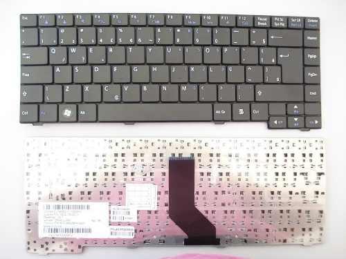 Teclado Notebook Lg C400 Preto Original Padrão Abnt2 Com Ç