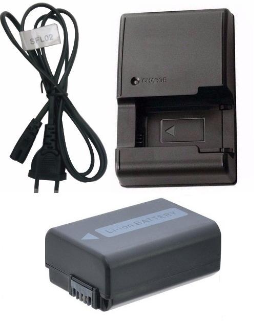 Kit Bateria + Carregador Np-fw50 Para Sony Alpha 7 A7 Slt-a35
