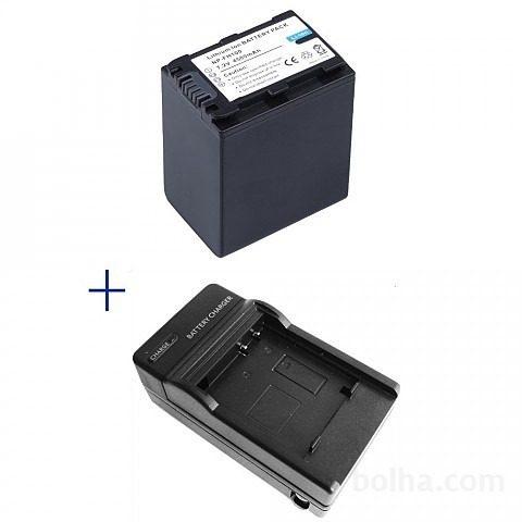 Kit Bateria + Carregador Np-fh100 Para Sony Dcr-dvd910 Dcr-dvd92e