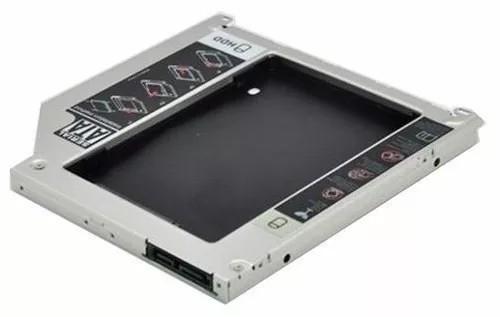 Adaptador Dvd Caddy Segundo Hd Ssd Note Dell Acer Sti 9,5mm Novo  - ENERGIA DIGITAL
