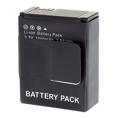 02 Baterias Go Pro Gopro Hero 3 + Bastão Flutuante Amarelo