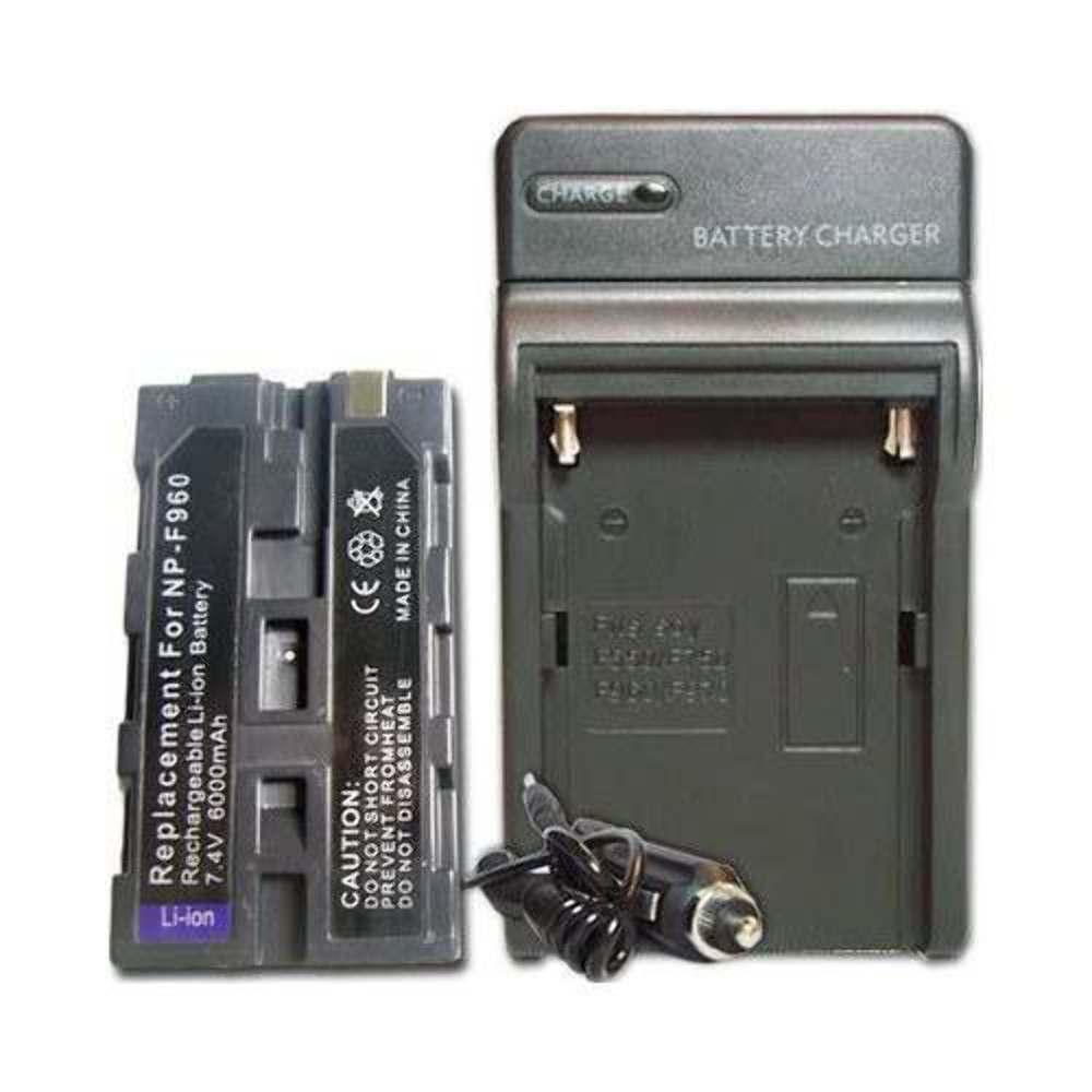 Kit Bateria Np-f970 Para Sony + Carregador Para Iluminador Led