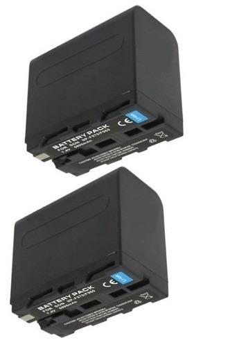 Kit com 2 Baterias Np-f970 Para Iluminador De Led Yn600