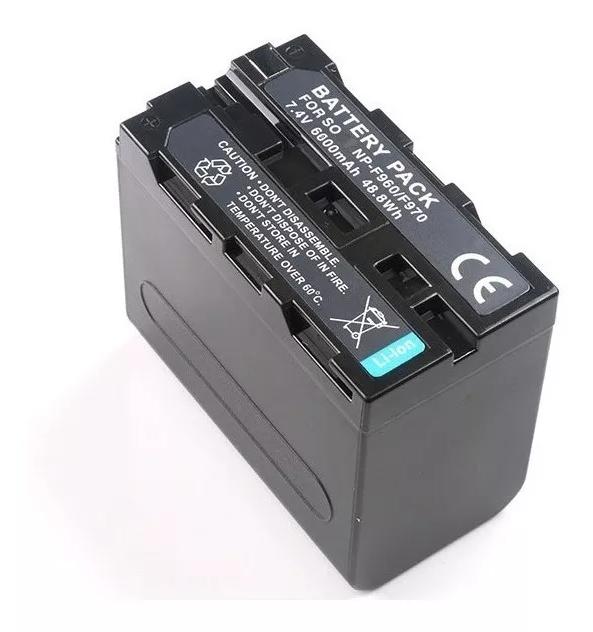Bateria Np-f960 Led Iluminador Profissional Vídeo E Dslr Led