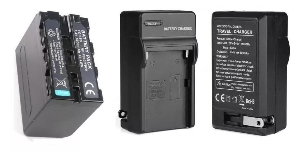 Bateria Np-f960 Para Iluminador Yn-300 Led  + Carregador