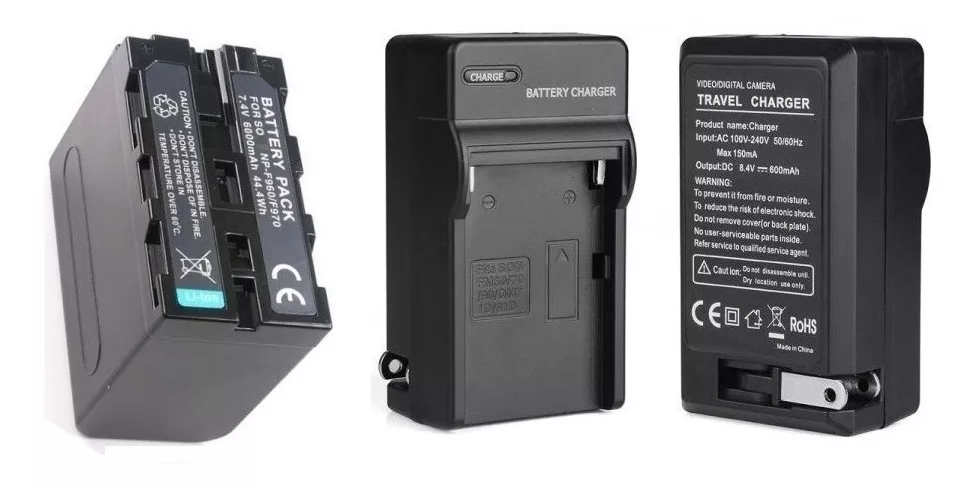 Bateria Np-f960 Para Iluminador Yn-300ii Led  + Carregador