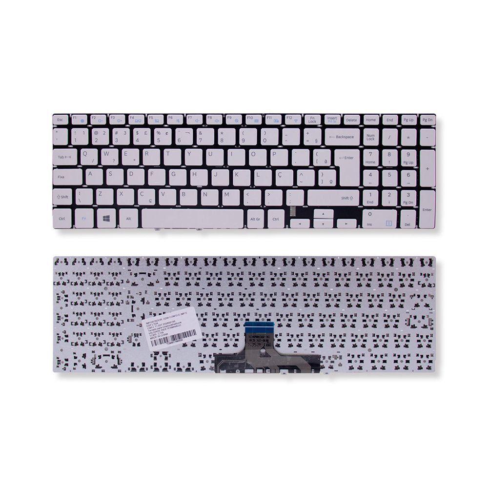 Teclado Notebook Samsung Expert X22 Np300e5m Branco Br Com Ç