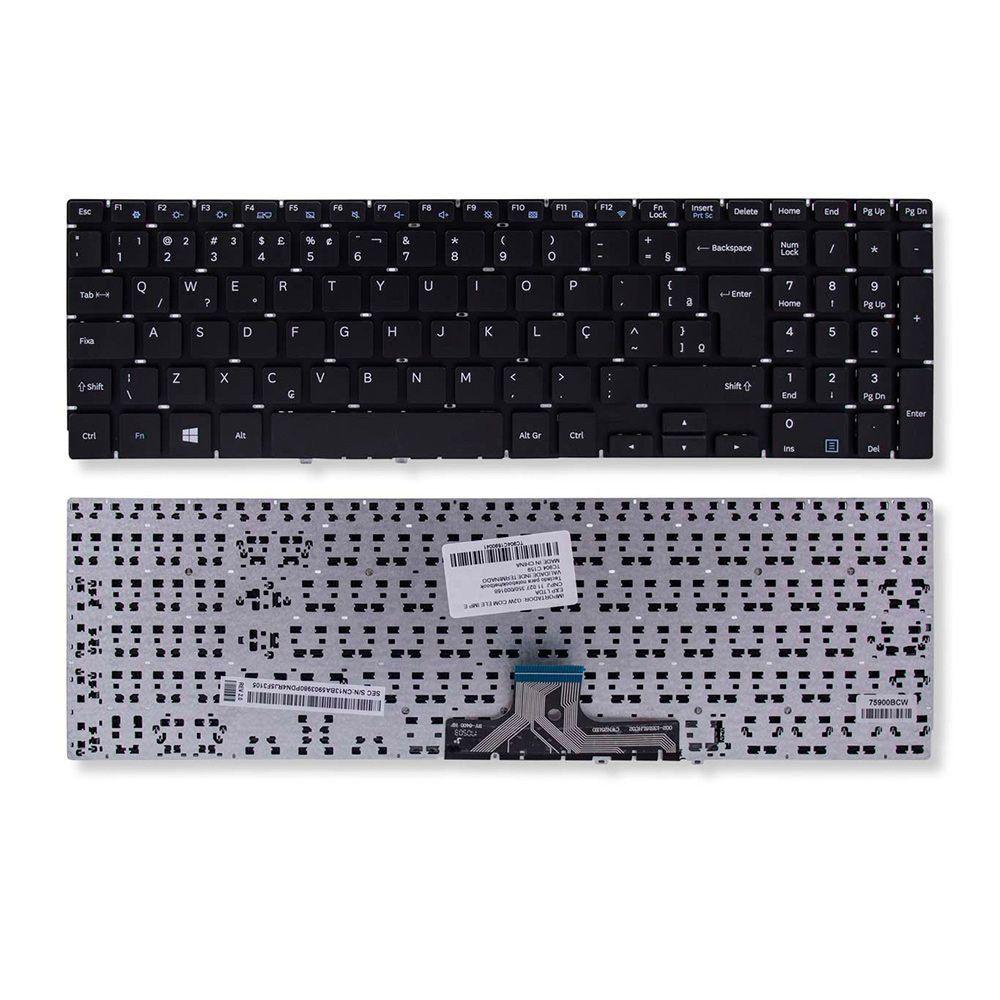 Teclado Para Notebook Samsung np300e5m-kfbbr Br Com Ç Novo