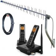 Kit Telefone Gsm Rural Sem fio Intelbras Cs 5142 c/ 1 ramal