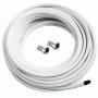 Kit cabo coaxial 15 mts p/ Antena Parabolica Uhf Vhf