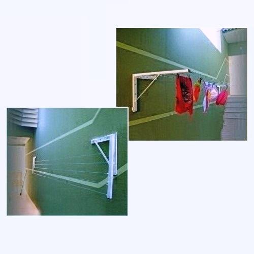 Varal De Muro Parede Mão Francesa Móvel - Loja Portal