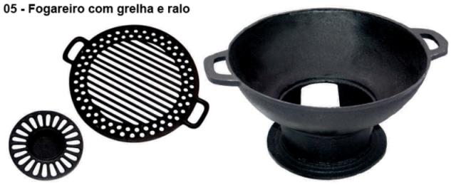 Gengiskan Redonda Ferro Fundido Chapa Grelha - Loja Portal