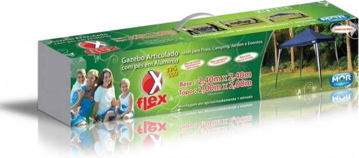 Gazebo Articulado Mor X-flex 3531 3x3m - Azul - Loja Portal