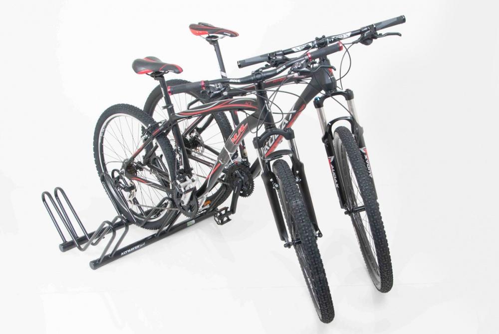 Bicicletário De Chão P/ 3 Vagas Preto - Altmayer - Loja Portal