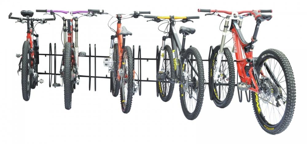 Bicicletário Diagonal de Parede para 05 Bicicletas - Altmayer - Loja Portal