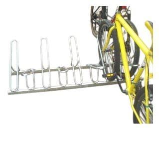 Bicicletário Leve De Chão Com 09 Vagas cor Cinza - Altmayer - Loja Portal