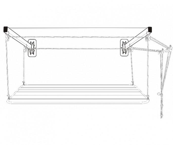 Varal de Parede Solution em Aço 1,20m para Tetos Frágeis - Secalux - Loja Portal