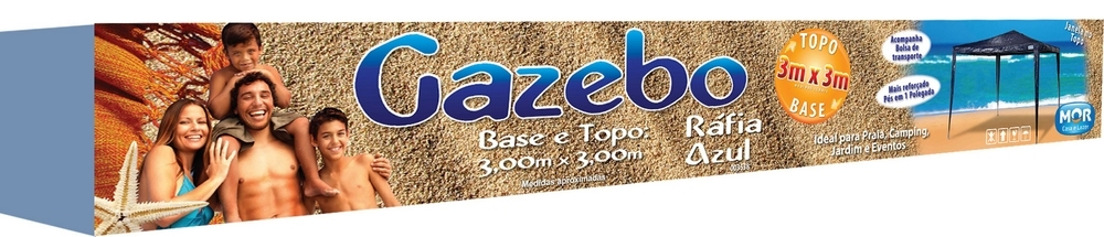 Tenda Gazebo Ráfia Base e Topo 3mx3m Azul - Mor - Loja Portal