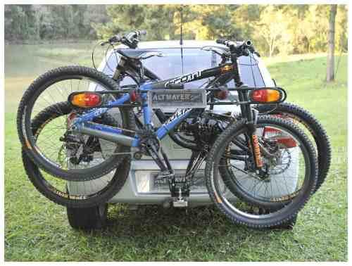 Transbike Suporte Bola Do Engate Até 3 Bikes + Sinalizador - Altmayer - Loja Portal