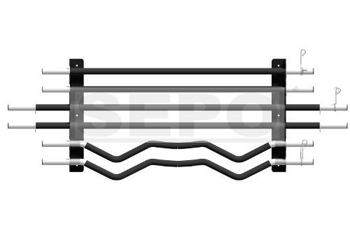 Suporte de Parede para 6 Barras de Musculação - Preto - Loja Portal