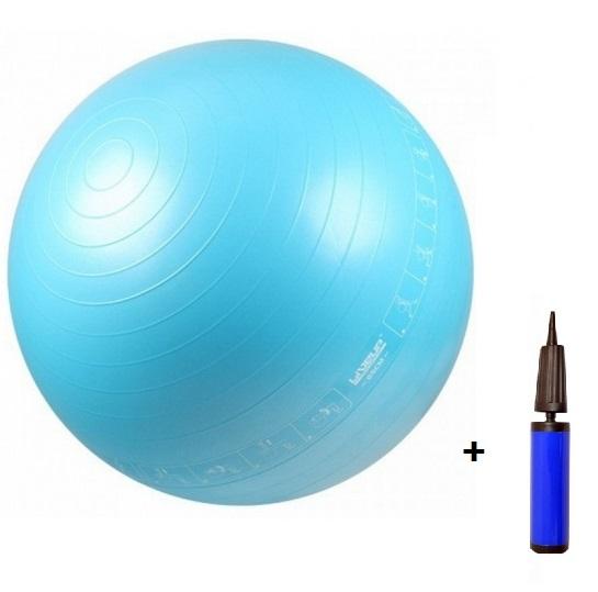 Bola Pilates 65cm com Ilustração + Bomba - Loja Portal