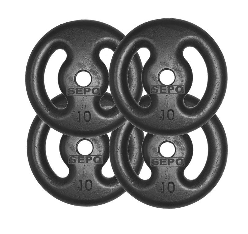 Kit com 04 Anilhas de Ferro Fundido de 10 Kg - Loja Portal