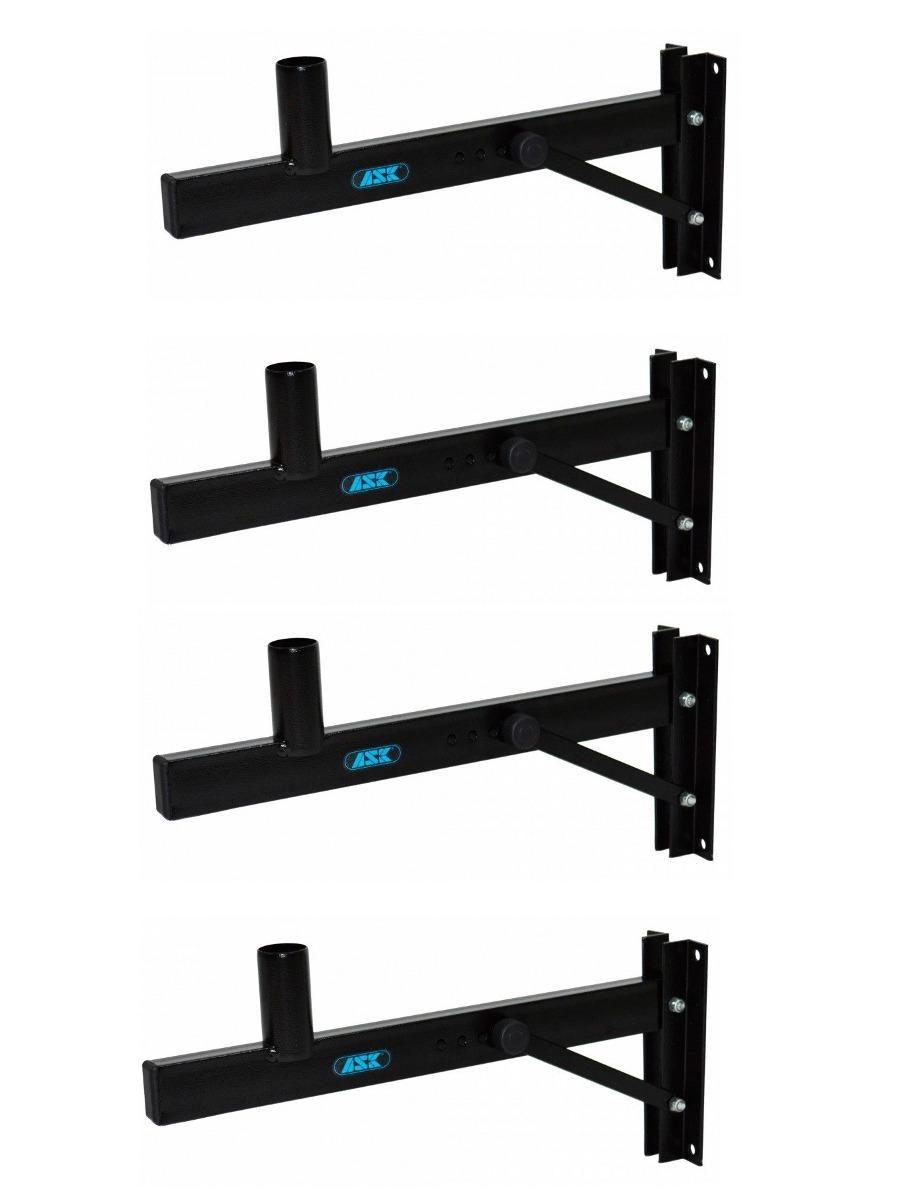 Kit com 04 Suportes de Parede CH10 para Caixas de Som até 45kg - Ask - Loja Portal