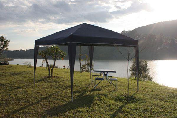 Tenda Gazebo Articulada 3mx3m Azul Trixx - Nautika - Loja Portal
