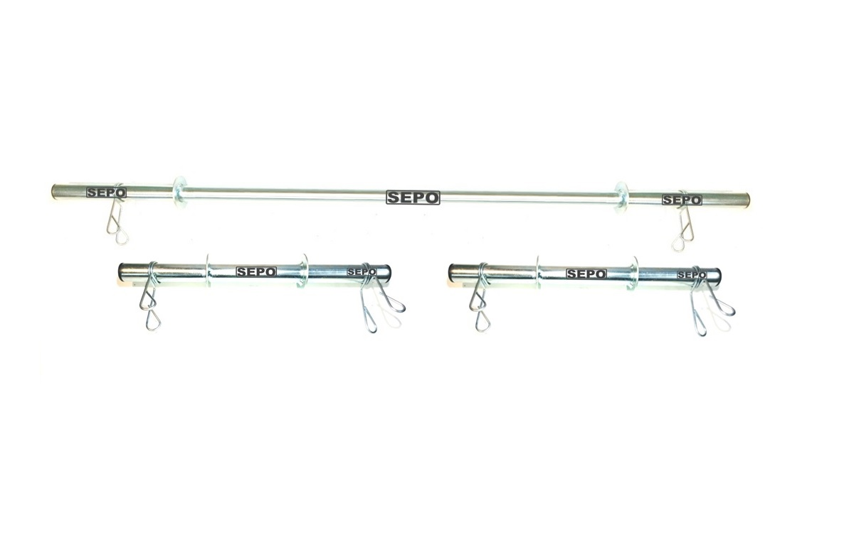 Kit de Barras Ocas para Halteres e Supino 40cm e 150cm com Presilhas - Loja Portal