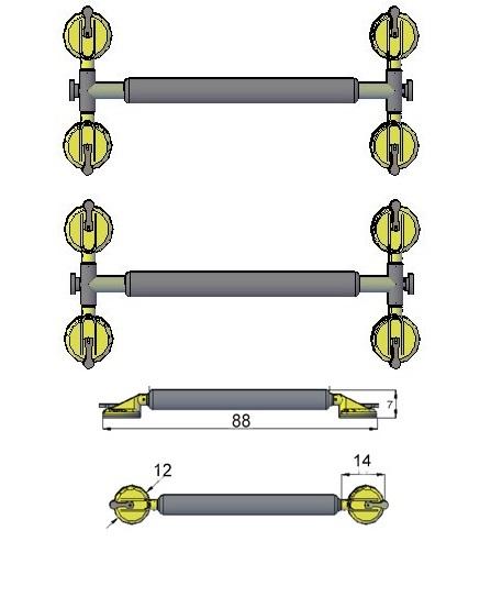 Summer Rack Universal 8 Ventosas para Caiaque Barracuda, Pranchas e Windsurf - Loja Portal