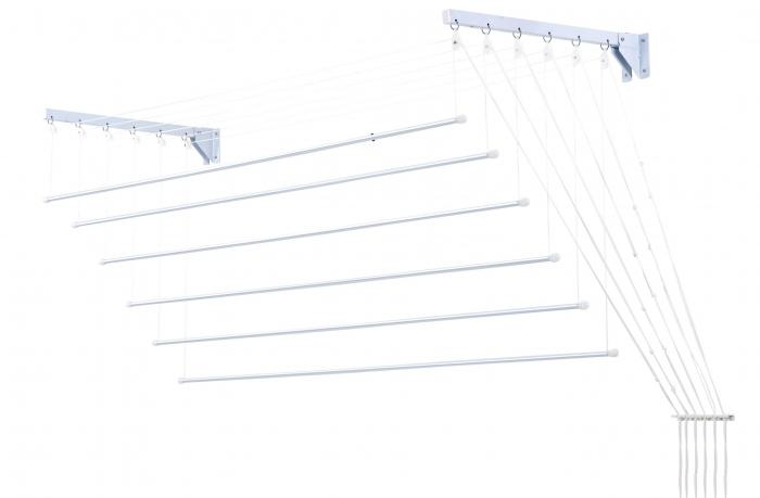 Varal Prático De Varetas Individuais Em Aço 1,40M Para Parede Ou Teto - Secalux - Loja Portal